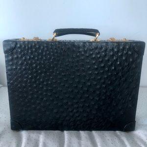 Gucci Ostrich black briefcase